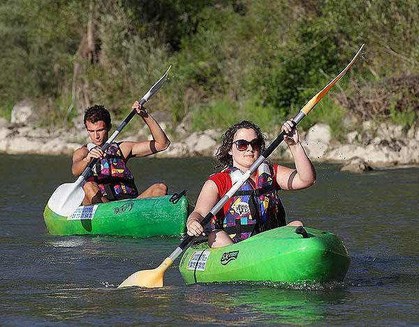 Descente en kayak sur la Drôme à Saillans