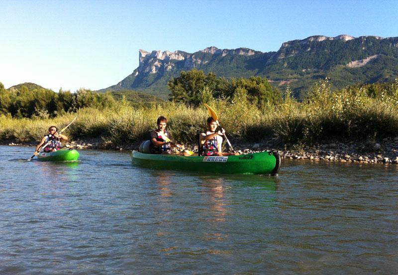 Descente canoe sur la Drome