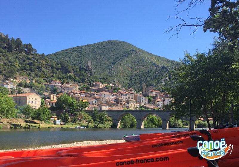 Location canoës kayaks à l'heure Roquebrun, Orb