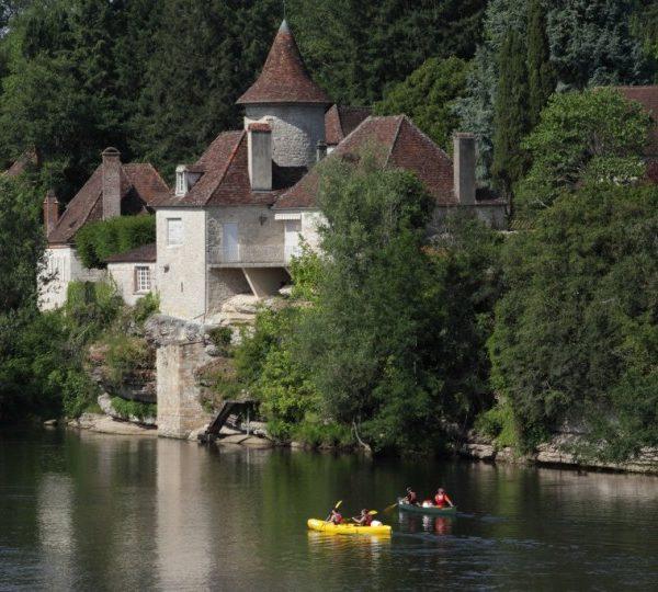 Parcours canoe kayak au départ de St Sozy sur la Dordogne
